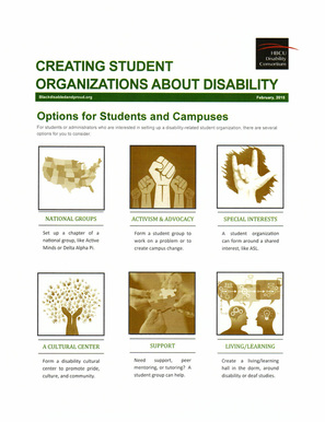 Creating Student Organizations about Disability