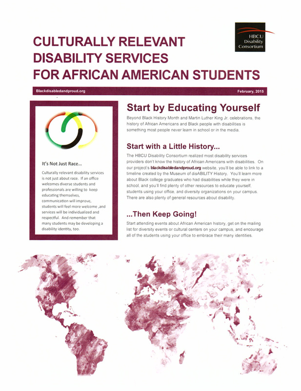 Culturally Relevant Disability Services for African American Students