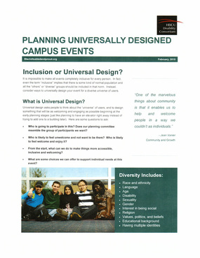 Planning Universally Designed Campus Events